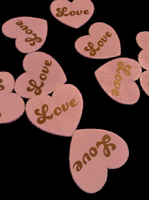 Wooden Love Heart Confetti