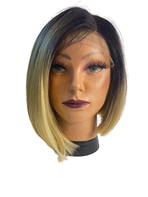 Synthetic Lace Wigs - Black to Blonde Ombre