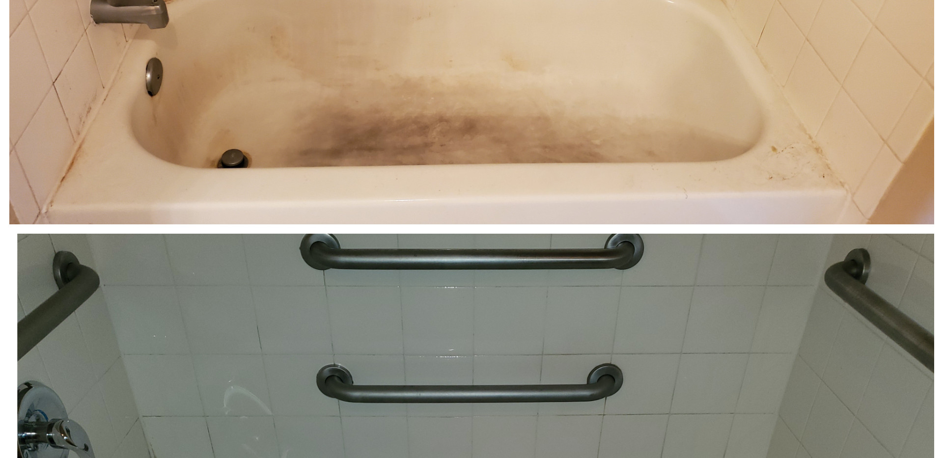 Before and After Tub