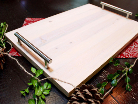 DIY Holiday Gift: 5-Minute Wooden Serving Tray