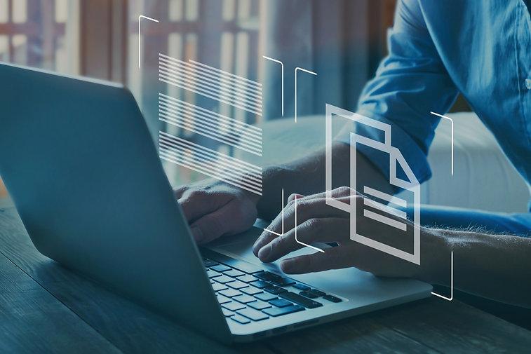 document management concept, online docu