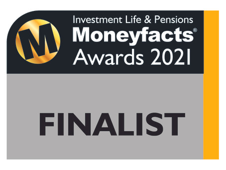 Following 2020 Win We are Nominated in the Investment Life & Pensions Moneyfacts Awards 2021