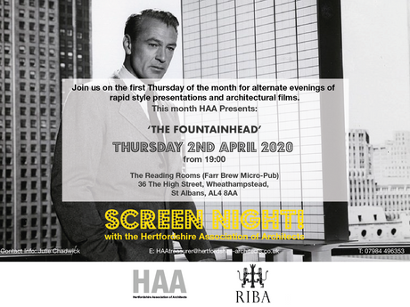 Change of Date - Next HAA Screen Night