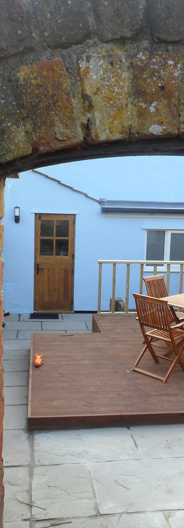 Garden - Note back door has changed