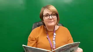 Mrs. Nelson reads Bear skates