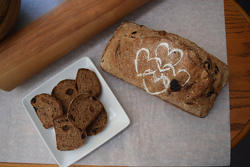 Cinnamon Raisin High Fiber Sourdough Bread (2.5 lbs. / 1,120 gms)
