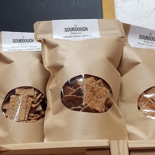 Sourdough Whole-Grain Sesame Crackers (8 oz)