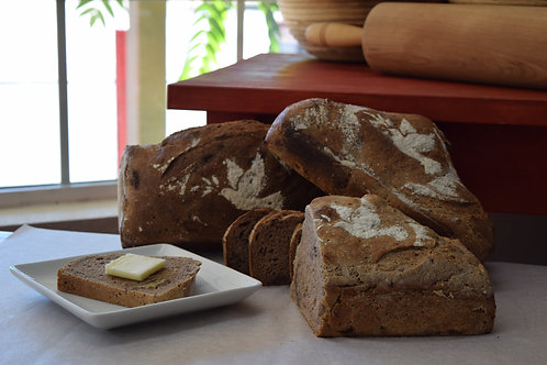 Walnut High Fiber Whole Wheat Sourdough Bread (2.5 lbs. / 1120 gms)