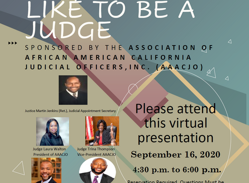 """""""Yes, I Would Like to Be a Judge"""" - Sept 16, 2020"""