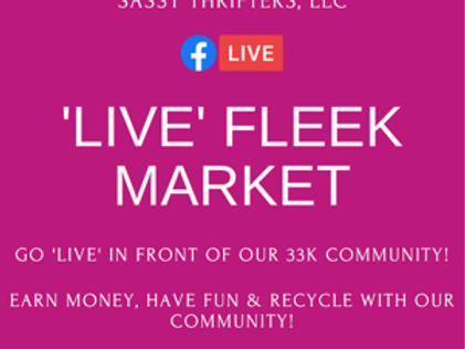 "Sassy Thrifters ""LIVE"" Fleek Market (Non-Registered Members)"