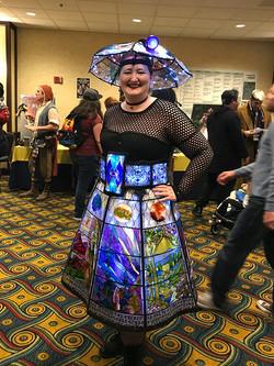 Gallifrey One 2018 stained glass dalek dress_PSE_800