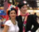 Frida Kahlo and Mary Poppins cosplay