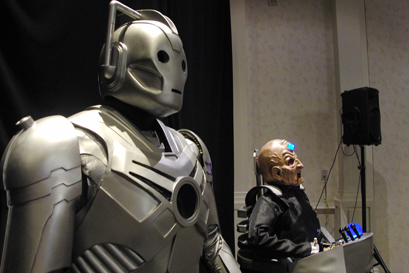 CONsole Room 2017_ Cyberman and Davros Display_800