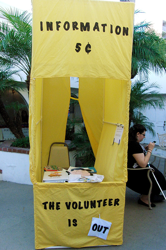 San Diego Comic Fest 2016 Peanuts Information Booth.jpg