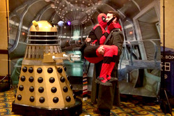 Gallifrey One 2016 Dalek, Deadpool and Captain Jack.jpg