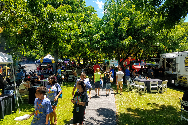 HawaiiCon 2017 Food Truck courtyard_800
