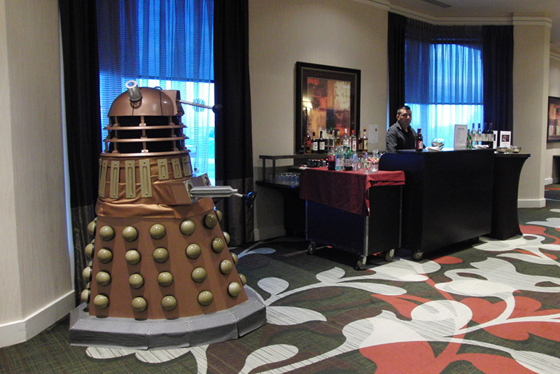 CONsole Room 2017_Dalek Guarding the Bar_800
