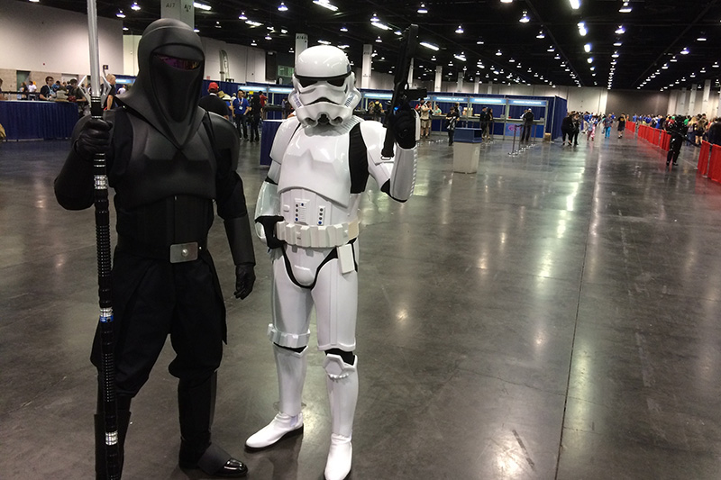 WonderCon 2015 Stormtroopers keep the line moving at registration.jpg