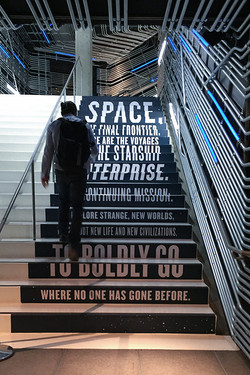 EMP Star Trek Exhibit_800 Boldly Go Stairs.jpg