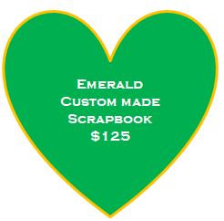 Emerald Custom Made Scrapbook