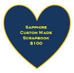 Sapphire Custom Made Scrapbook