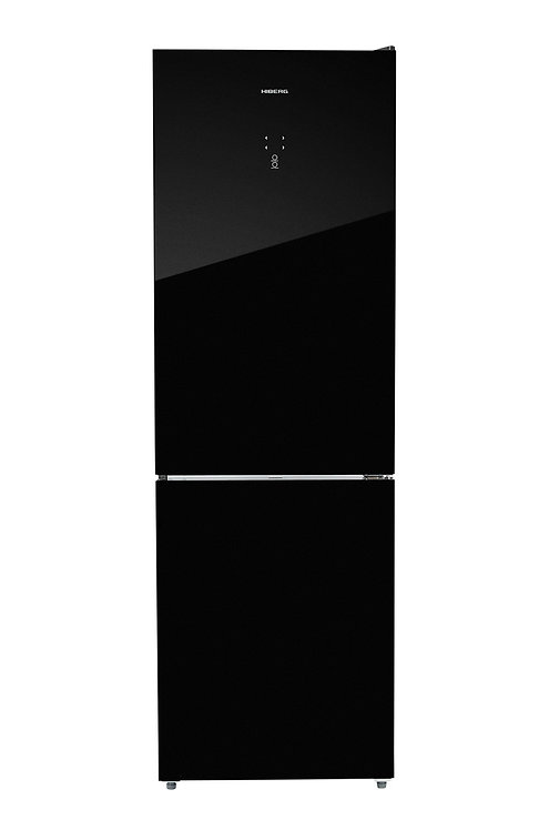 Холодильник HIBERG RFC-375DX NFGB (черное стекло)