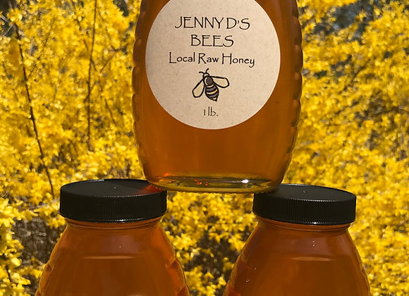 1 Pound Jar of Pure Raw Honey