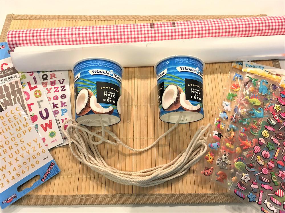 Atelier DIY Montessori : le Téléphone Yaourt