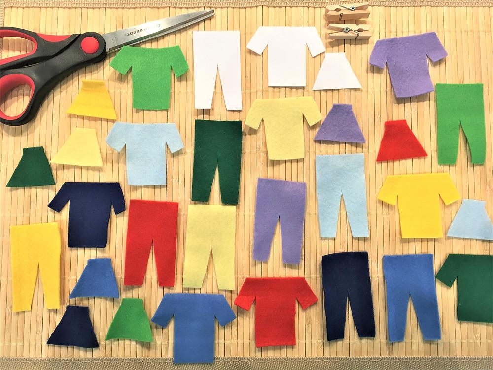 Atelier DIY Montessori : confection de mini-vêtements à étendre