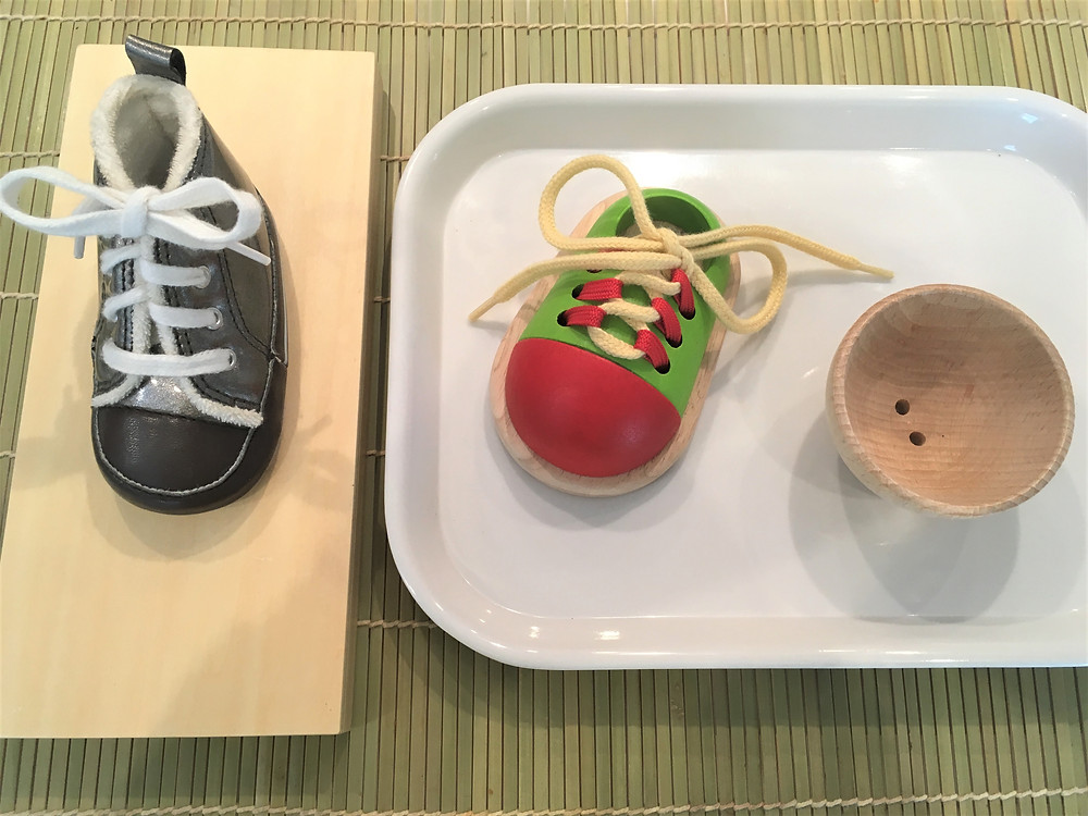 Atelier Montessori Vie Pratique (3/6 ans): la Chaussure à Lacer