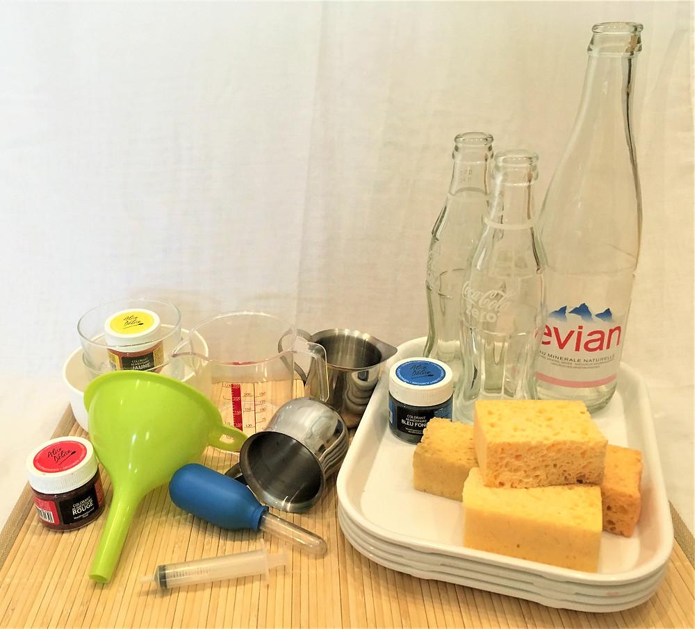 DIY Transvasement d'eau : 4 activités pour continuer, ingrédients
