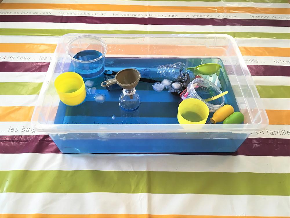 DIY Atelier Montessori : La Bassine & ses Outils (Transvasement de Solides 1/2)