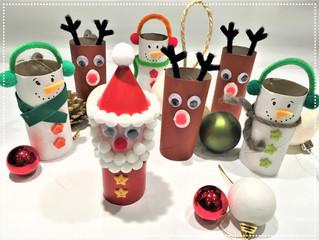 DIY de Noël : Bonhomme de Neige, Renne et Père Noël Recyclés !