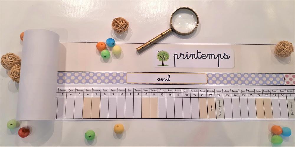 DIY Montessori Poutre du Temps