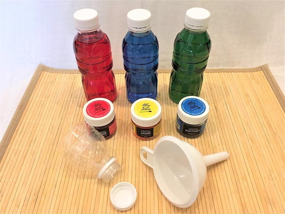 Transvasement d'eau, préparation et logistique