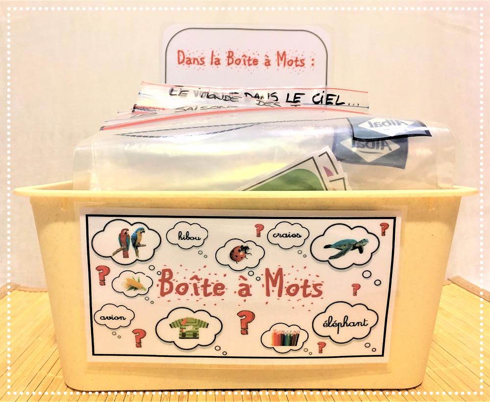 DIY Atelier Montessori : la Boîte à Mots (nomenclatures et PDF inclus)