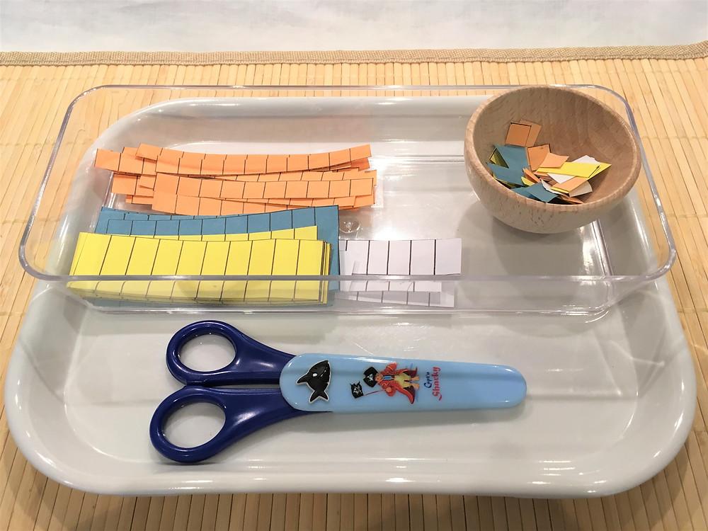 Atelier DIY Montessori (3 à 5 ans) : la Découpe aux Ciseaux
