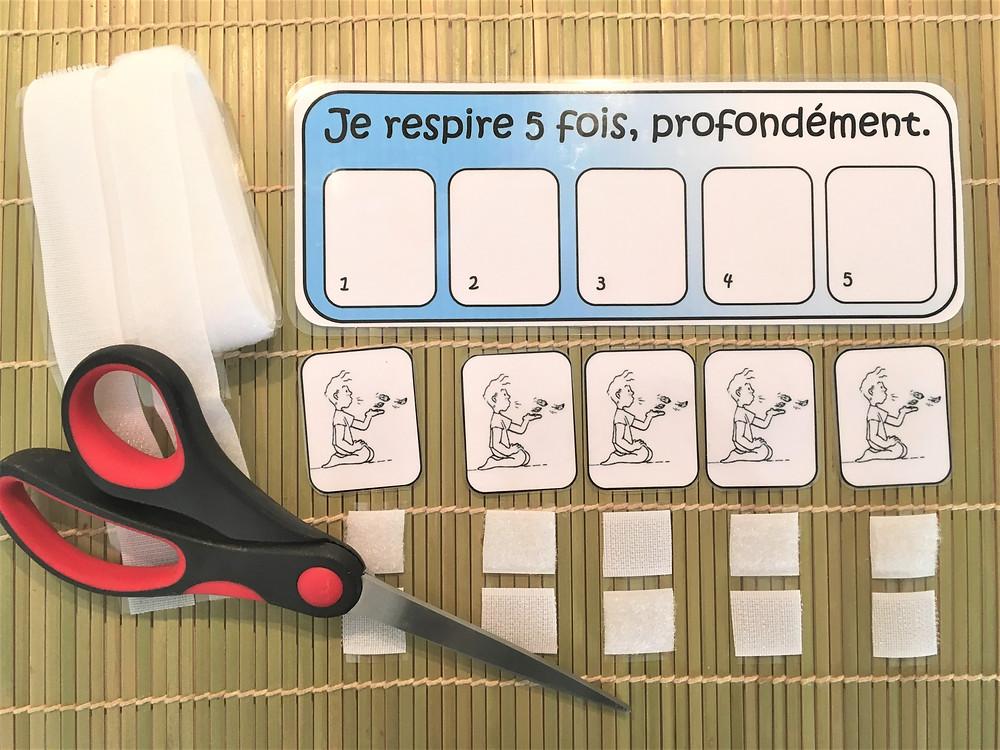 DIY Pédagogie : 5 respirations profondes pour calmer les émotions fortes, avec du Velcro