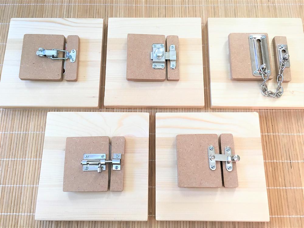 DIY Atelier Montessori : Les Planches à Serrures