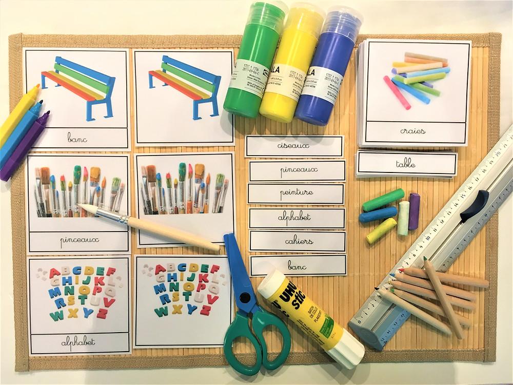 DIY Atelier Montessori : Vive l'Ecole ! (PDF)