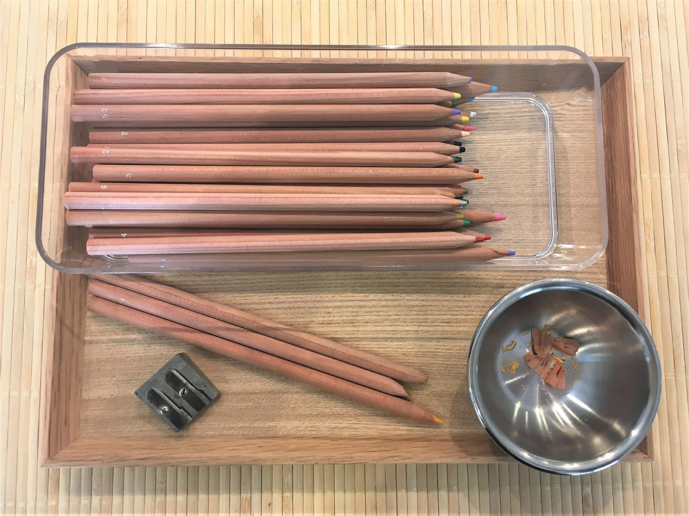 Atelier Montessori Montricité Fine (3/6 ans): le Taille-Crayon.