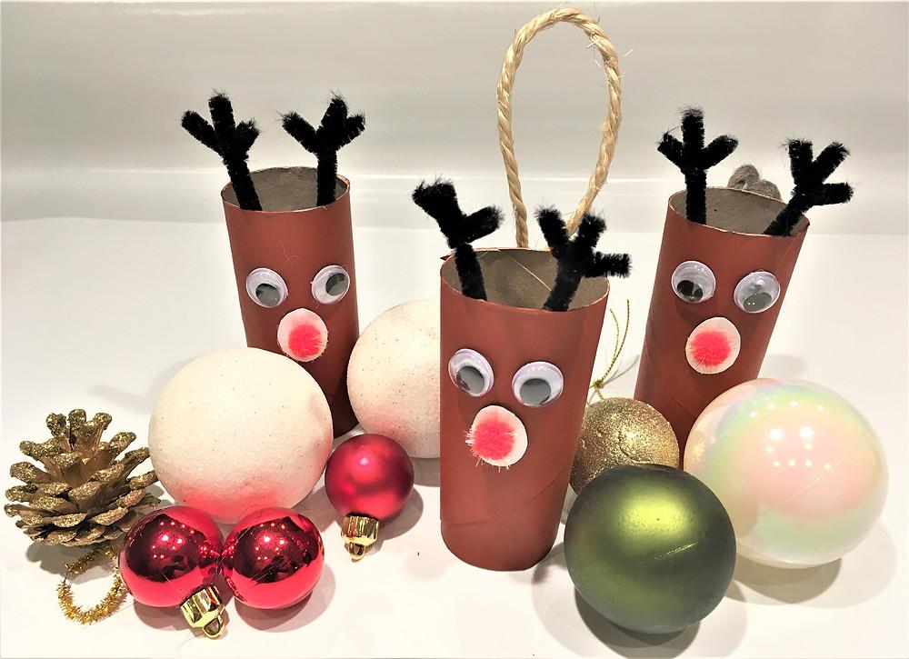 DIY tuto tutoriel bricolage de Noël pour enfants rouleaux de papier toiette