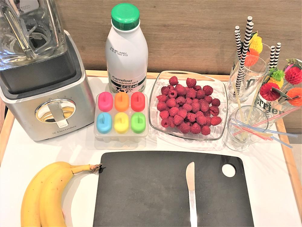 Atelier Cuisine Petites Mains : Smoothie & Glace, ingrédients