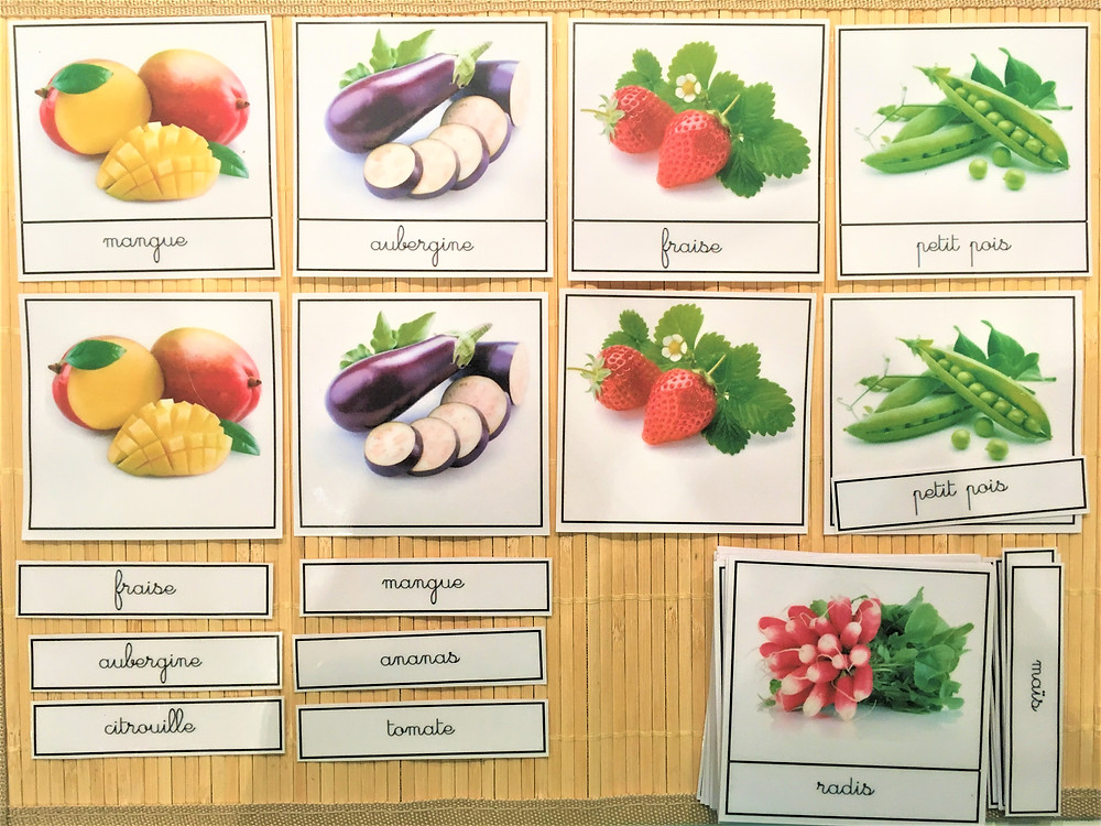 DIY Atelier Montessori : Fruits & Légumes (PDF)