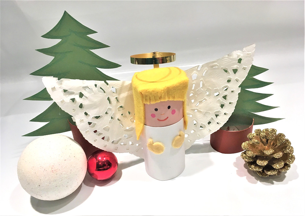 DIY de Noël :L'Ange Recyclé ! Tutoriel bricolage pour enfants en rouleaux de papier toilette
