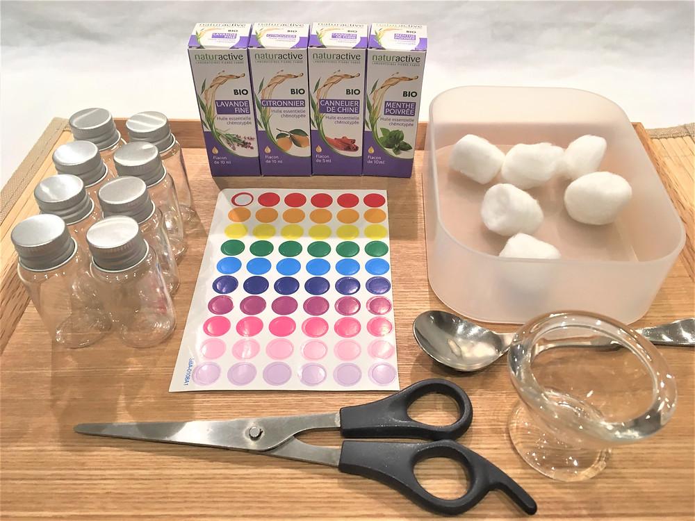 Atelier DIY Montessori : Paires d'Odeurs, les ingrédients