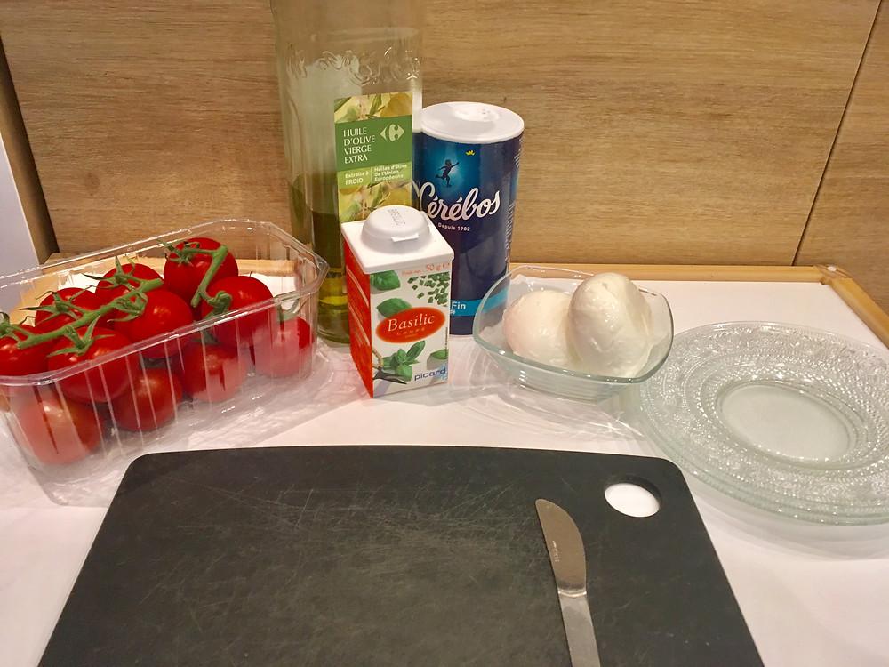 Atelier Cuisine : Tomates & Mozza, ingrédients