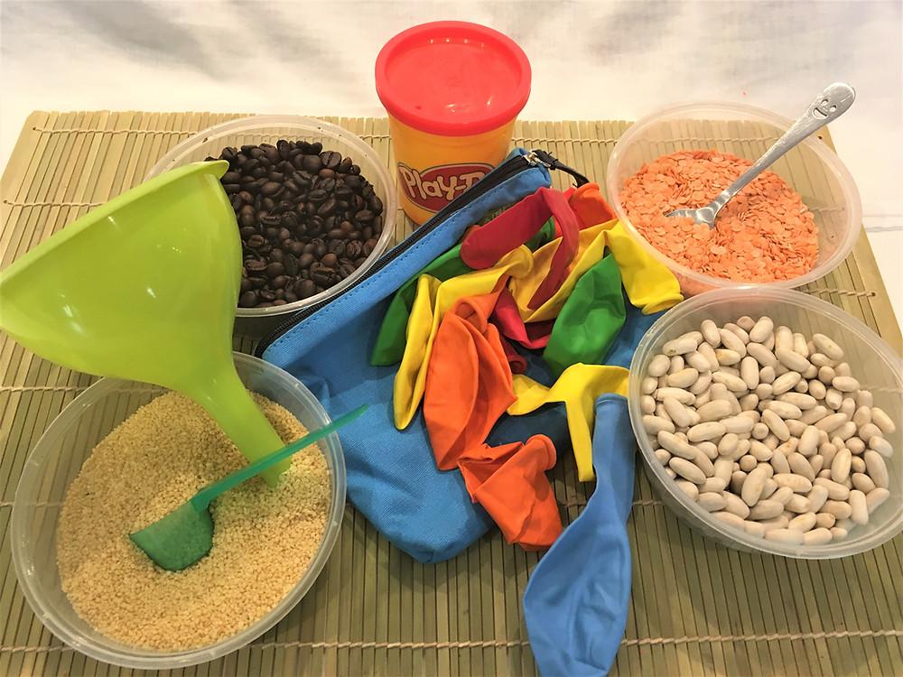 DIY Atelier Montessori : les Balles d'Humeurs, ingrédients