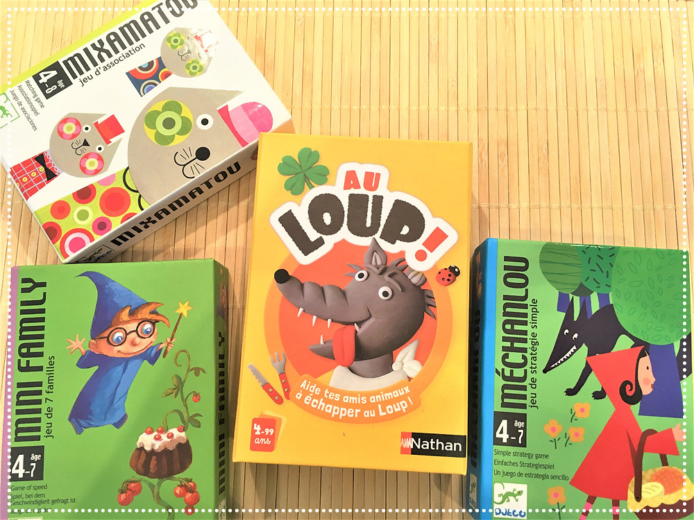 Testé à la Maison : Jeux de société pour les petits : Au loup !, Méchanlou, MiniFamily et Mixamatou