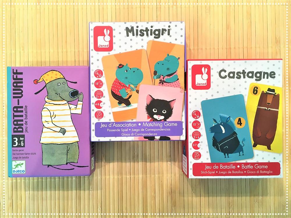 Testé à la Maison : Jeux de Société pour les petits,Mistigri, Castagne, Bata-waff